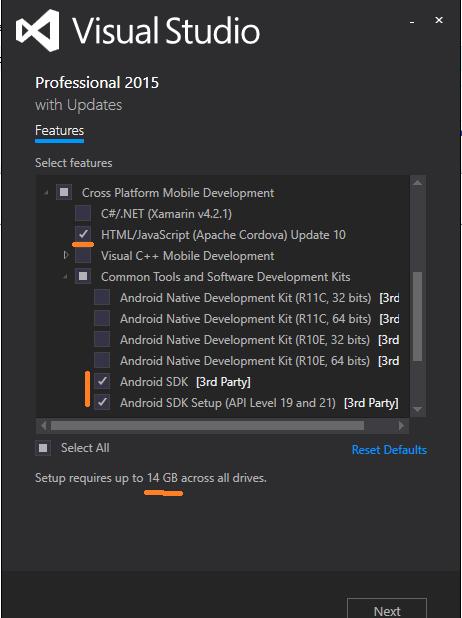 install Apache Cordova Update 10