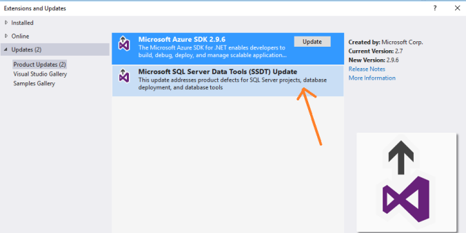 Sql Server database project template missing in Visual Studio