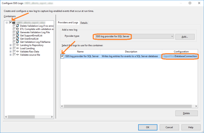 configure SSIS Logs part 1