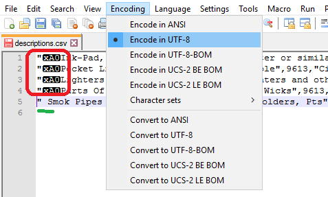 encode utf-8